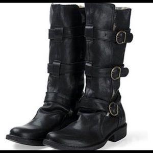 Fiorenti + Baker Testa Moro Black Leather sz 37